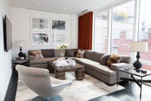Living Room Modern Design Manhattan, NY