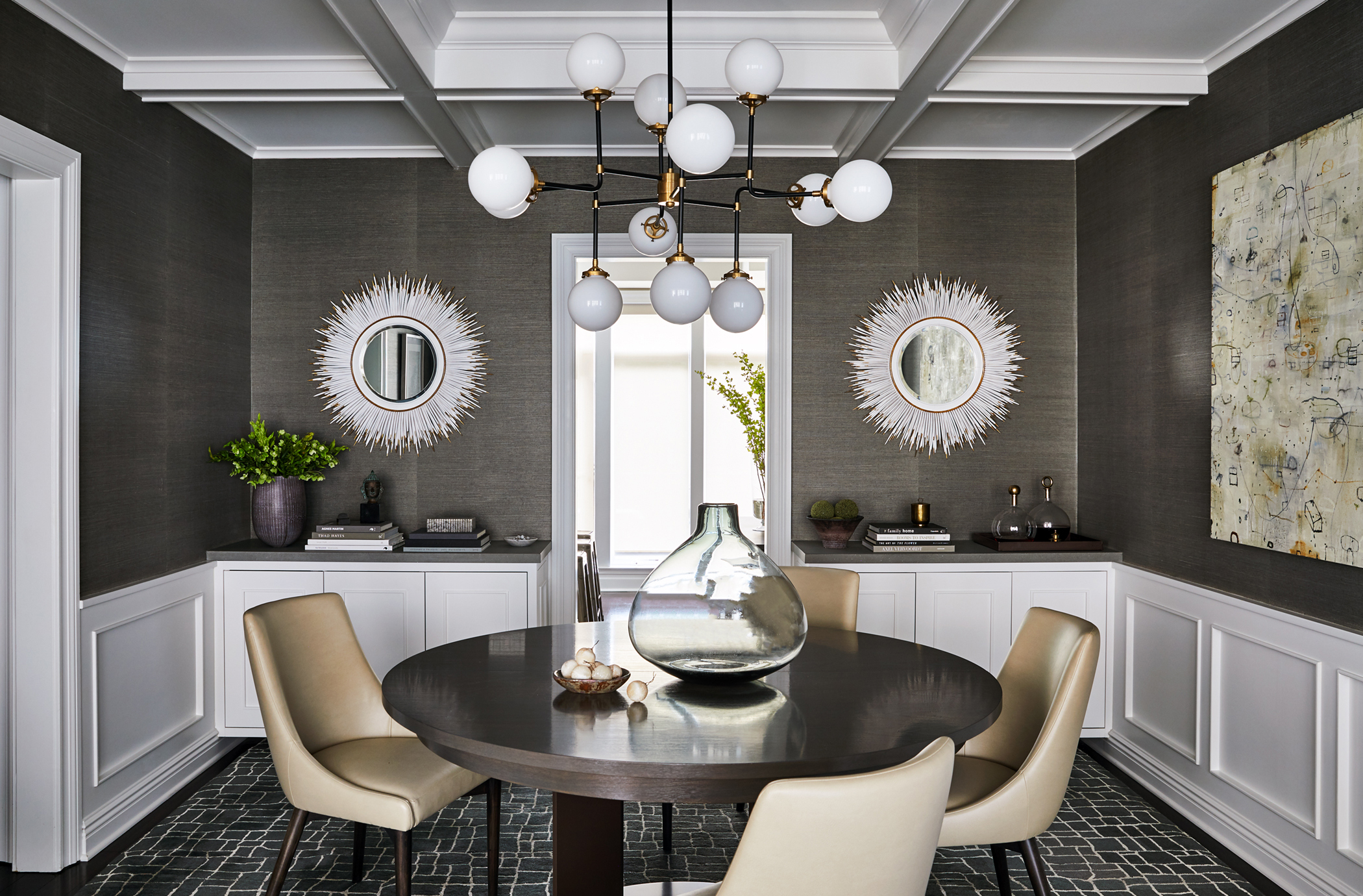 J. Patryce Design Waterfront Townhouse dining room