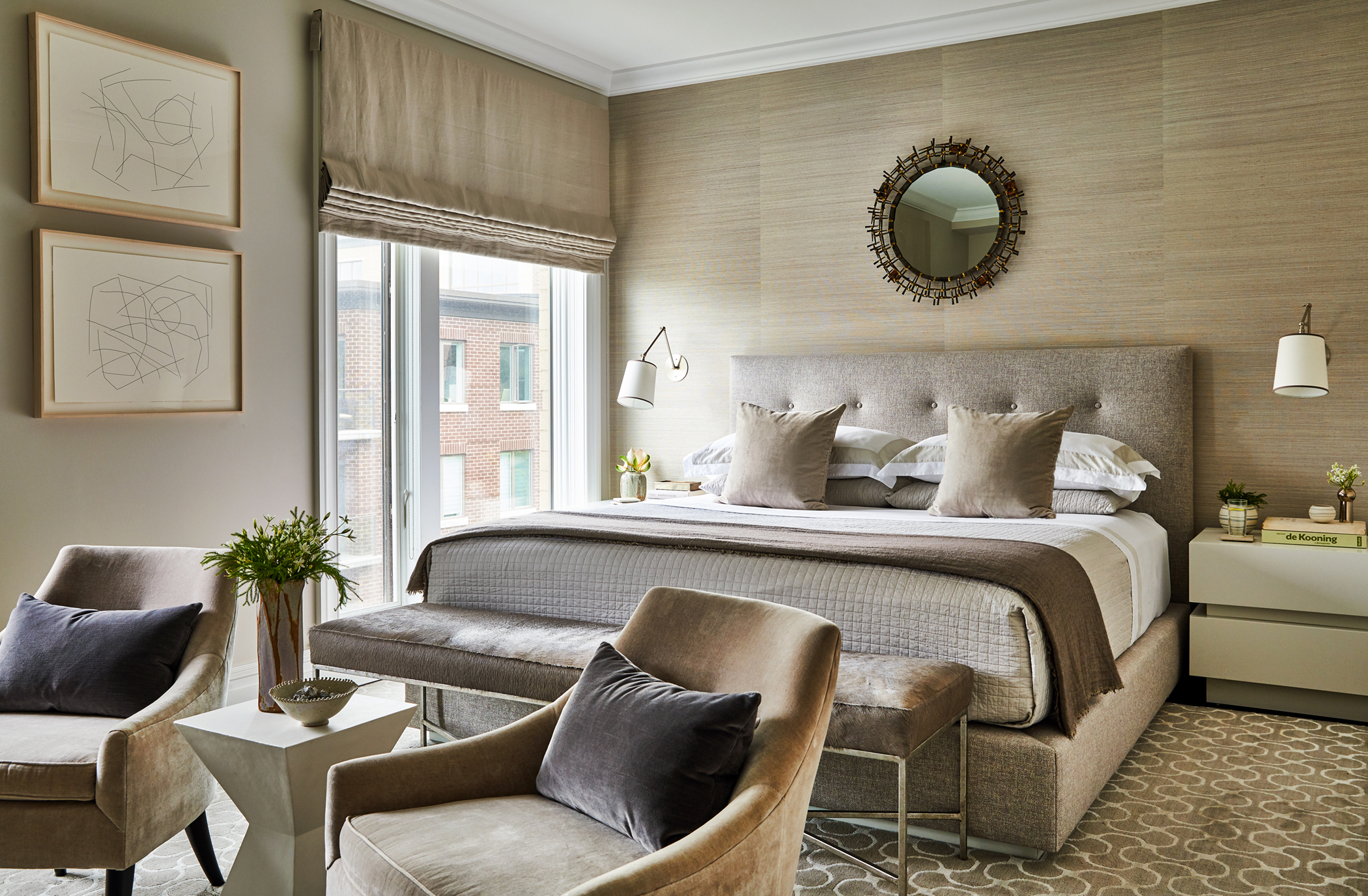 J. Patryce Design Waterfront Townhouse master bedroom