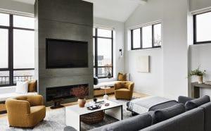 Harborside Penthouse living room